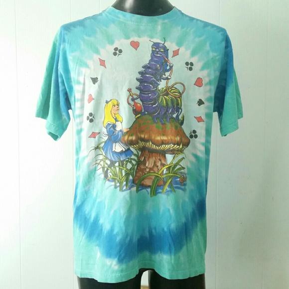 fc97cb8963f Alice IN WOnderland T-shirt Tie Dyed Liquid Blue